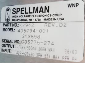 Spellman Anode Power Module Philips MX8000 Brilliance CT Scanner 405794-001